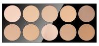 Pierre René - COMPACT POWDER - Profesjonalna paleta 10 pudrów do makijażu