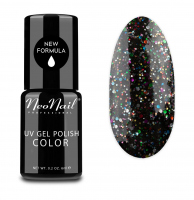 NeoNail - UV GEL POLISH COLOR - GRUNGE - Lakier hybrydowy - 6 ml - 3625-1 - BLACK CONFETTI - 3625-1 - BLACK CONFETTI
