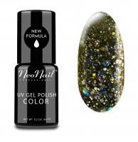 NeoNail - UV GEL POLISH COLOR - GRUNGE - Lakier hybrydowy - 6 ml - 4632-1 - GLITTER GALAXY - 4632-1 - GLITTER GALAXY