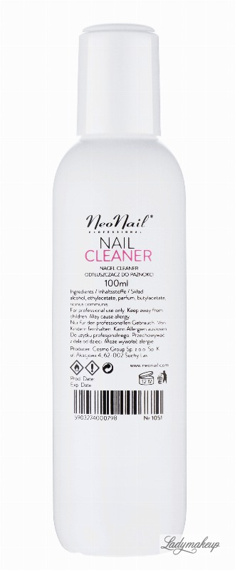 cliner nails  NeoNail - NAIL CLEANER - Nail degreaser - 100 ml - ART. 1051