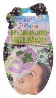 7th Heaven (Montagne Jeunesse) - Tkaninowa maseczka do twarzy - Błotna maska nawilżająca z materiału bambusowego - Błotna maska nawilżająca z materiału bambusowego