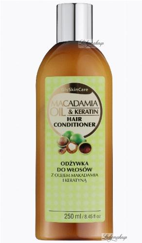 GlySkinCare - MACADAMIA OIL & KERATI HAIR CONDITIONER - Odżywka do włosów z olejem makadamia i kreatyną