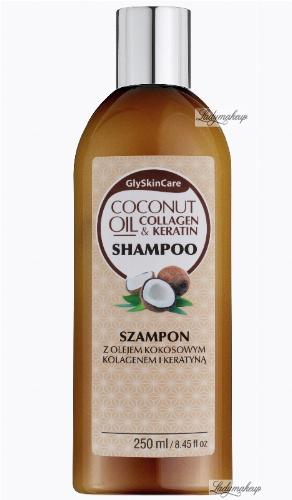 GlySkinCare - COCONUT OIL & COLLAGEN KERATIN SHAMPOO - Szampon z olejem kokosowym, kolagenem i keratyną