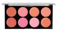 MAKEUP REVOLUTION - Blush Melts Palette - Paleta 8 róży w kremie