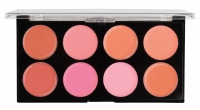 MAKEUP REVOLUTION - Blush Melts Palette - Paleta 8 róży w kremie