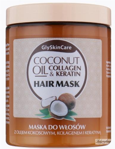 GlySkinCare - COCONUT OIL & COLLAGEN KERATIN HAIR MASK - Maska do włosów z olejem kokosowym, kolagenem i keratyną