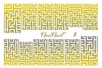 NeoNail - WATER STICKER GOLD - Ultracienkie naklejki wodne złote