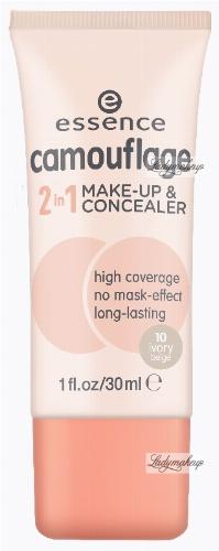 Essence - CAMOUFLAGE 2in1 - MAKE-UP & CONCEALER - Podkład i korektor w jednym