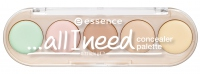 Essence - ALL I NEED - CONCEALER PALETTE - Paletka 5 korektorów - 10 cover it all