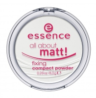 Essence - All about matt! Fixing Compact Powder - Transparentny puder matujący w kompakcie