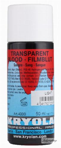 KRYOLAN - TRANSPARENT BLOOD - Krew transparentna - 50 ml - ART. 4000