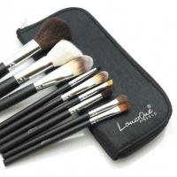 LancrOne - Zestaw 9 pędzli do makijażu + czarne etui
