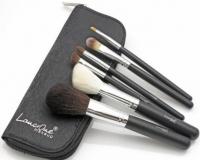 LancrOne - Zestaw 6 pędzli do makijażu + czarne etui