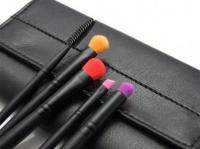 LancrOne - Butterfly Collection - Zestaw 5 kolorowych pędzli do makijażu + czarne etui