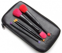 LancrOne - Butterfly Collection - Set of 10 colorful make-up brushes + black case