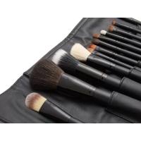 LancrOne - Zestaw 12 pędzli do makijażu - BLACK + czarne etui