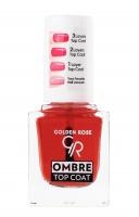 Golden Rose - OMBRE TOP COAT - Koloryzujący utwardzacz do paznokci z efektem ombre