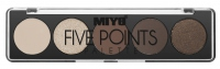 MIYO - FIVE POINTS EYESHADOW PALETTE - Paleta 5 cieni do powiek