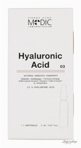Pierre René - HYALURONIC ACID - Głęboko nawilżająca 7-dniowa kuracja małocząsteczkowym kwasem hialuronowym w ampułkach