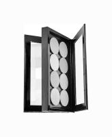 Z Palette - ULTIMATE CUSTOMIZABLE MAKEUP PALETTE - Podwójna paleta magnetyczna do kosmetyków - DOUBLE SIDED BLACK