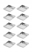 With Palette - SQUARE METAL PANS - 10 pieces