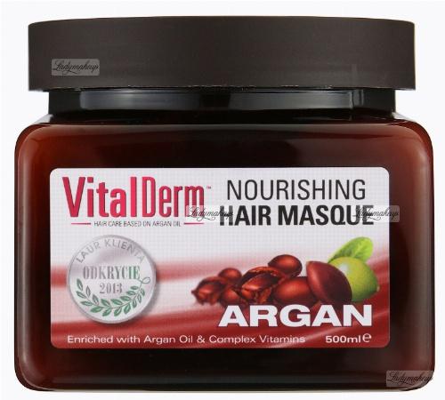 VitalDerm - Nourishing HAIR MASQUE ARGAN - Odżywczo - rekonstruująca maska arganowa