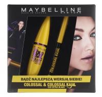 MAYBELLINE - ZESTAW - COLOSSAL & COLOSSAL KAJAL - 12H EXTRA BLACK - Maskara Volum'Express i Eyeliner Colossal Kajal