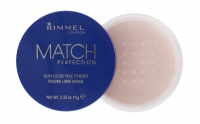 RIMMEL - MATCH PERFECTION - SILKY LOOSE FACE POWDER - Sypki puder transparentny 001