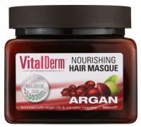 VitalDerm - HAIR CARE BASED ON ARGAN OIL - Świąteczny zestaw kosmetyków do włosów z olejem arganowym (odżywczo-rekonstruująca maska arganowa i odbudowujący szampon)