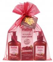 VitalDerm - HAIR CARE BASED ON ARGAN OIL - Świąteczny zestaw kosmetyków do włosów z olejem arganowym (szampon, odżywka, naprawcze serum do włosów)