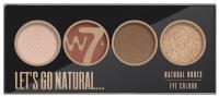 W7 - LET'S GO NATURAL... - NATURAL NUDES EYE COLOUR PALETTE - Paleta 4 cieni do powiek