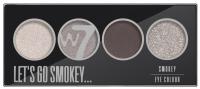 W7 - LET'S GO SMOKEY - SMOKEY EYE COLOUR PALETTE - Paleta 4 cieni do powiek