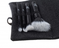 ELF - STIPPLE BRUSH TRAVEL SET - Zestaw 4 pędzli do makijażu z kosmetyczką - STIPPLE BRUSH, SMALL STIPPLE BRUSH, EYESHADOW STIPPLE BRUSH, TAPERED STIPPLE BRUSH