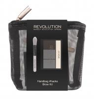MAKEUP REVOLUTION - HANDBAG #HACKS BROW KIT - Zestaw do makijażu - Paleta do brwi i pędzel