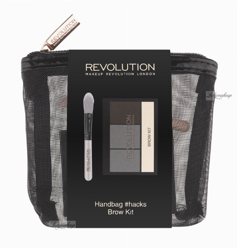 MAKEUP REVOLUTION - HANDBAG #HACKS BROW KIT - Eyebrow palette + brush