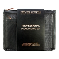 MAKEUP REVOLUTION - PROFESSIONAL COSMETICS BAG SET - Zestaw 3 kosmetyczek