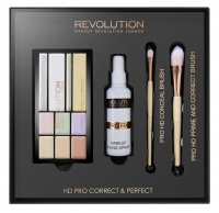 MAKEUP REVOLUTION - HD PRO CORRECT & PERFECT - CONCEAL BRUSH, PRIME AND CORRECT BRUSH