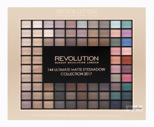 MAKEUP REVOLUTION - 144 ULTIMATE MATTE EYESHADOW COLLECTION 2017 - Paleta 144 matowych cieni do powiek