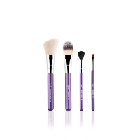 Sigma - ON-THE-GO TRAVEL BRUSH SET - Zestaw 4 pędzli + tuba - PURPLE
