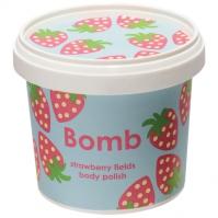 Bomb Cosmetics - Strawberry Fields - Body Polish - Peeling pod prysznic - TRUSKAWKOWE POLA
