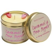Bomb Cosmetics - Caramel & Pink Pepper - A classy combination - Ręcznie wytwarzana świeca zapachowa z olejkami eterycznymi - KARMEL Z RÓŻOWYM PIEPRZEM