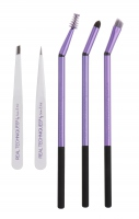 Real Techniques - Brow Set - Set of eyebrows brushes and tweezers + panoramic case - 1468