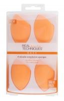 Real Techniques - 4 Miracle Complexion Sponges - Zestaw czterech gąbek do podkładu - 91553