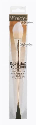 Real Techniques - Bold Metals Collection - TRIANGLE FOUNDATION - 101 - Trójkątny pędzel do podkładu - 1441
