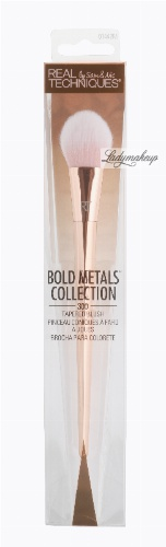 Real Techniques - Bold Metals Collection - TAPERED BLUSH - 300 - Pędzel do różu - 1442