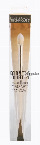 Real Techniques - Bold Metals Collection - TRIANGLE CONCEALER - 102 - Trójkątny pędzel do korektora - 1443