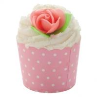 Bomb Cosmetics - Pink Polka - Deser kakaowy na 4 kąpiele - PINK POLKA