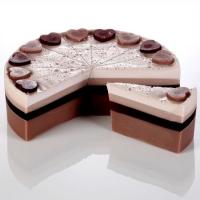 Bomb Cosmetics - Chocolate Heaven Handmade Soap - Porcja tortu mydlanego - NIEBIAŃSKA CZEKOLADA