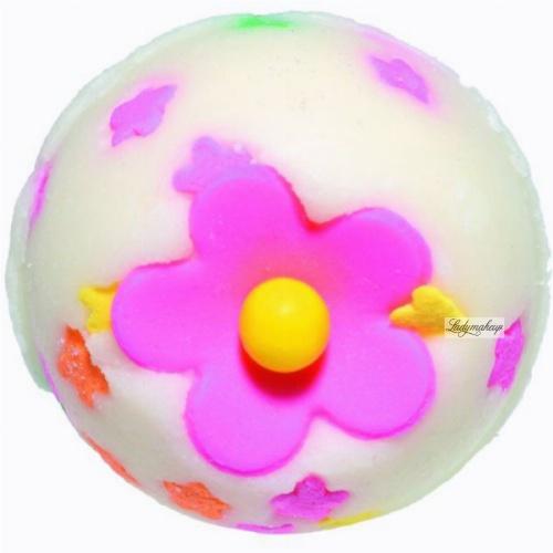 Bomb Cosmetics - Polkadot Posie Bath Creamer - Maślana, kremowa kuleczka do kąpieli - BUKIET W KROPKI