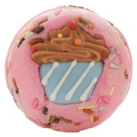 Bomb Cosmetics - Cute as Cupcakes Bath Creamer - Buttermilk bath ball